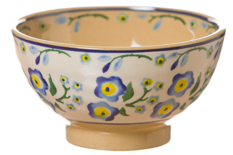 Small bowl Forget Me Not spongeware pottery by Nicholas Mosse Pottery - Ireland - Handmade Irish Craft