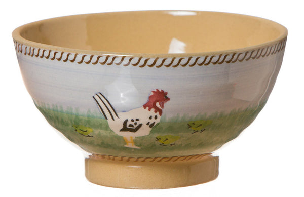 Small bowl Hen spongeware pottery by Nicholas Mosse Pottery - Ireland - Handmade Irish Craft.