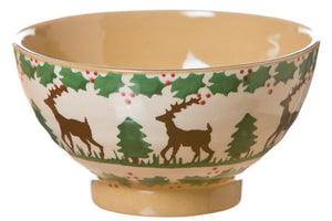 Small bowl Reindeer spongeware pottery by Nicholas Mosse Pottery - Ireland- Handmade Irish Craft