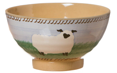 Small bowl Sheep spongeware pottery by Nicholas Mosse Pottery - Ireland - Handmade Irish Craft.