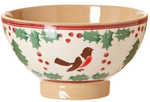 Small Bowl Winter Robin