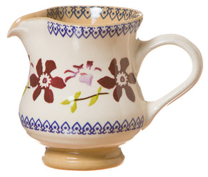 Small jug Clematis spongeware pottery by Nicholas Mosse Pottery - Ireland - Handmade Irish Craft.