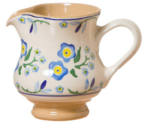 Small  jug Forget Me Not spongeware pottery by Nicholas Mosse Pottery - Ireland - Handmade Irish Craft.