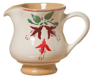Small jug Fuchsia spongeware pottery by Nicholas Mosse Pottery - Ireland - Handmade Irish Craft.