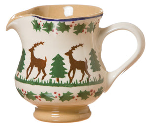 Small jug Reindeer spongeware pottery by Nicholas Mosse Pottery - Ireland - Handmade Irish Craft.