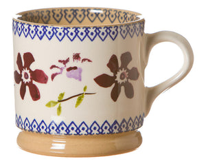 Small mug Clematis spongeware pottery by Nicholas Mosse Pottery - Ireland - Handmade Irish Craft.