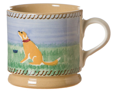 Small mug Dog spongeware pottery by Nicholas Mosse Pottery - Ireland - Handmade Irish Craft