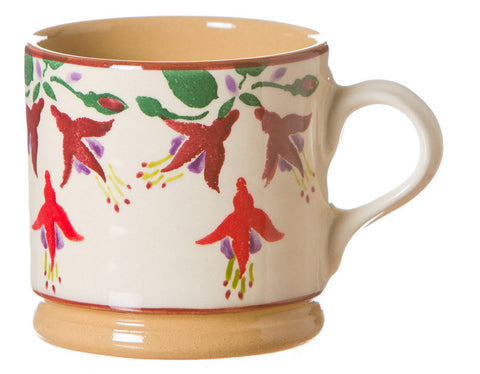 Small mug Fuchsia spongeware pottery by Nicholas Mosse Pottery - Ireland - Handmade Irish Craft.