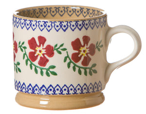 Small mug Old Rose spongeware pottery by Nicholas Mosse Pottery - Ireland - Handmade Irish Craft.
