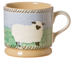 Small mug Sheep spongeware pottery by Nicholas Mosse Pottery - Ireland - Handmade Irish Craft