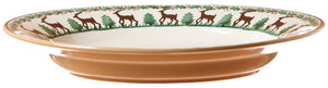 Small oval dish Reindeer spongeware pottery by Nicholas Mosse Pottery - Ireland - Handmade Irish Craft.