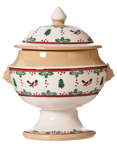 SOUP TUREEN WINTER ROBIN