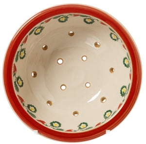 Strawberry Bowl Top View Nicholas Mosse Pottery handcrafted spongeware Ireland
