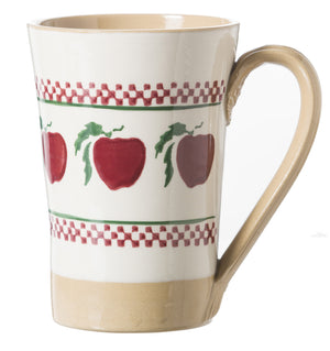 Tall Mug Apple spongeware pottery by Nicholas Mosse Pottery - Ireland - Handmade Irish Craft