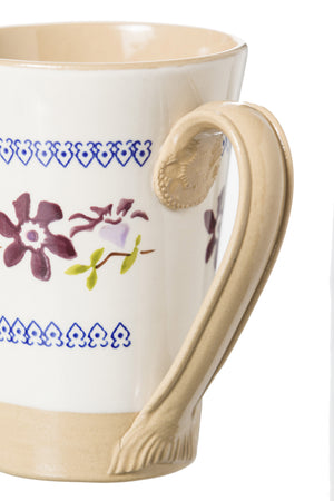 Tall Mug Clematis 2 spongeware pottery by Nicholas Mosse Pottery - Ireland - Handmade Irish Craft