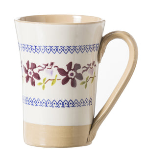 Tall Mug Clematis spongeware pottery by Nicholas Mosse Pottery - Ireland - Handmade Irish Craft