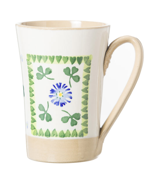 Tall Mug Clover spongeware pottery by Nicholas Mosse Pottery - Ireland - Handmade Irish Craft