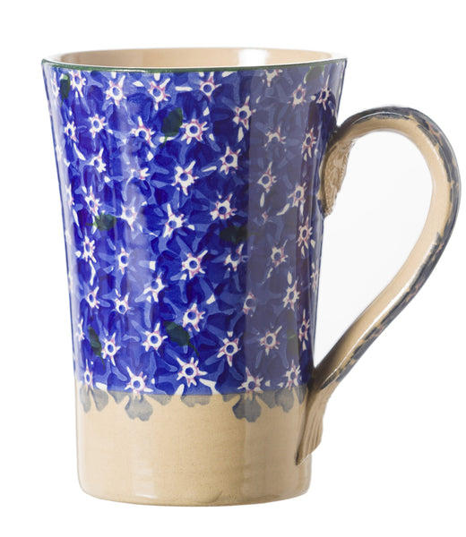 Tall Mug Dark Blue Lawn spongeware pottery by Nicholas Mosse Pottery - Ireland - Handmade Irish Craft