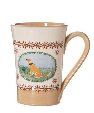 Tall Mug Dog spongeware pottery by Nicholas Mosse Pottery - Ireland - Handmade Irish Craft