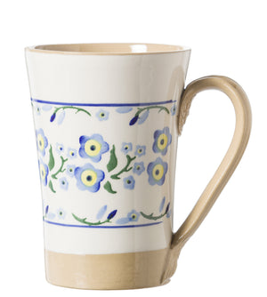 Tall Mug Forget me Not spongeware pottery by Nicholas Mosse Pottery - Ireland - Handmade Irish Craft