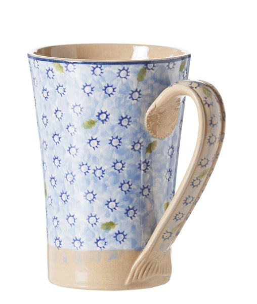Nicholas Mosse Tall Mug Lawn Light Blue spongeware pottery by Nicholas Mosse Pottery - Ireland - Handmade Irish Craft