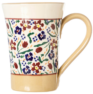 Tall Mug Wild flower Meadow Nicholas Mosse Pottery handcrafted spongeware Ireland