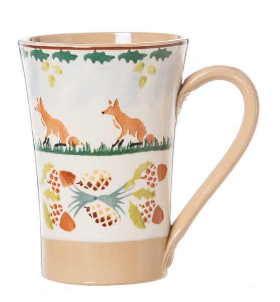Nicholas Mosse Woodland Fox Tall Mug spongeware pottery by Nicholas Mosse Pottery - Ireland - Handmade Irish Craft