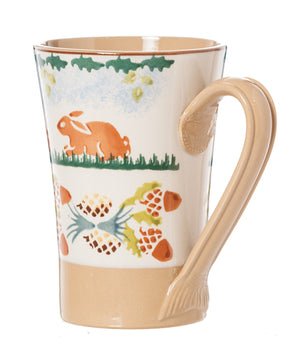 Nicholas Mosse Woodland Rabbit Tall Mug spongeware pottery by Nicholas Mosse Pottery - Ireland - Handmade Irish Craft