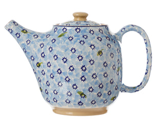 Teapot Light Blue Lawn