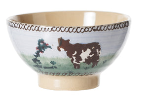 Tiny Bowl Cow spongeware by Nicholas Mosse Pottery - Ireland - Handmade Irish Craft