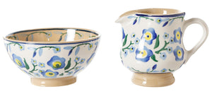 Tiny Bowl and Tiny Jug Forget Me Not by Nicholas Mosse Pottery - Ireland - Handmade Irish Craft