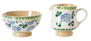 Tiny Bowl and Tiny Jug Clover spongeware pottery by Nicholas Mosse, Ireland - Handmade Irish Craft - nicholasmosse.com