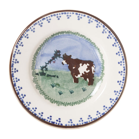 Tiny Plate Cow spongeware by Nicholas Mosse Pottery - Ireland - Handmade Irish Craft