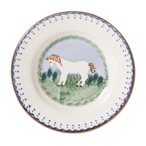 Tiny Plate Pony spongeware by Nicholas Mosse Pottery - Ireland - Handmade Irish Craft