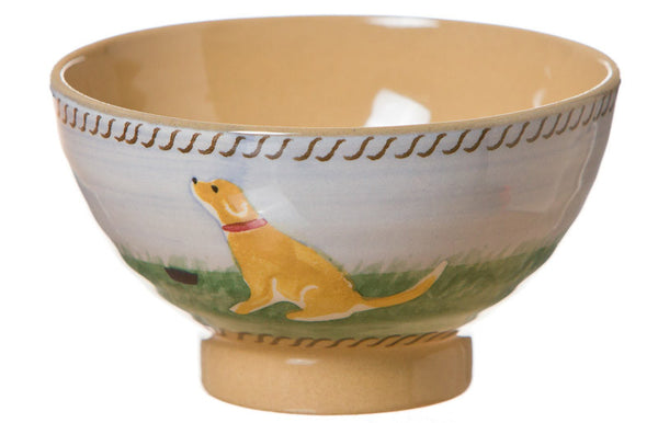 Tiny bowl Dog spongeware pottery by Nicholas Mosse Pottery - Ireland - Handmade Irish Craft