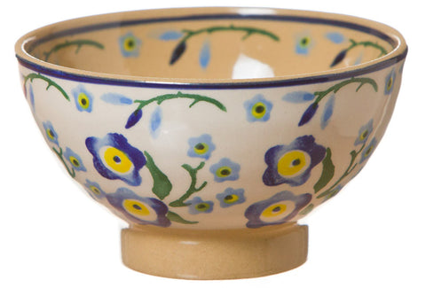 Tiny bowl Forget Me Not spongeware pottery by Nicholas Mosse Pottery - Ireland - Handmade Irish Craft