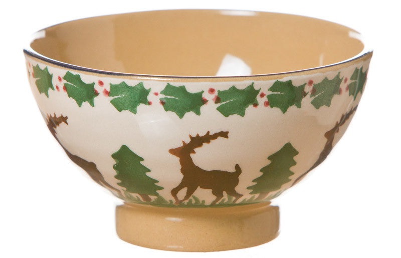 Tiny bowl Reindeer spongeware pottery by Nicholas Mosse Pottery - Ireland - Handmade Irish Craft