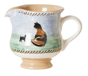 Tiny Jug Cat spongeware pottery by Nicholas Mosse, Ireland - Handmade Irish Craft - nicholasmosse.com