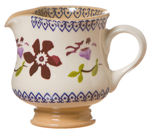 Tiny jug Clematis spongeware pottery by Nicholas Mosse Pottery - Ireland - Handmade Irish Craft.