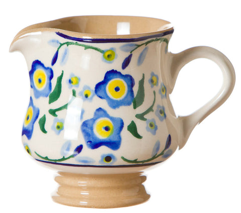 Tiny jug Forget Me Not spongeware pottery by Nicholas Mosse Pottery - Ireland - Handmade Irish Craft.