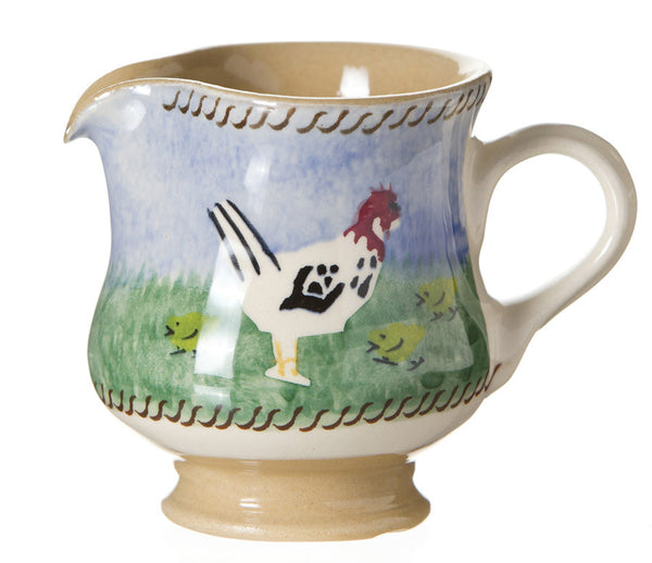 Tiny jug Hen spongeware pottery by Nicholas Mosse Pottery - Ireland - Handmade Irish Craft.
