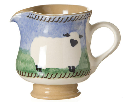 Tiny jug Sheep spongeware pottery by Nicholas Mosse Pottery - Ireland - Handmade Irish Craft.