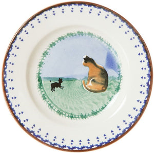 Tiny Plate Cat Nicholas Mosse Pottery handcrafted sponge ware Ireland