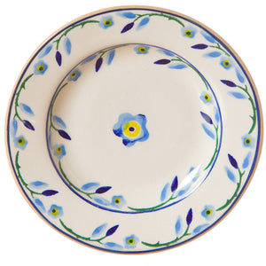 Tiny plate Forget Me Not spongeware pottery by Nicholas Mosse Pottery - Ireland - Handmade Irish Craft.