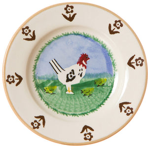 Tiny plate Hen spongeware pottery by Nicholas Mosse Pottery - Ireland - Handmade Irish Craft.
