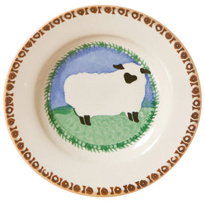Tiny plate Sheep spongeware pottery by Nicholas Mosse Pottery - Ireland - Handmade Irish Craft.