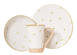 Trio Gift Set White Lawn spongeware pottery by Nicholas Mosse, Ireland - Handmade Irish Craft - nicholasmosse.com