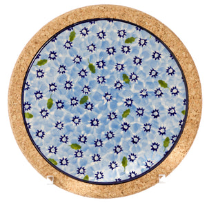 Tile Round Trivet Light Blue Lawn