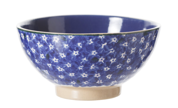 Vegetable Bowl Dark Blue Lawn spongeware by Nicholas Mosse Pottery - Ireland - Handmade Irish Craft