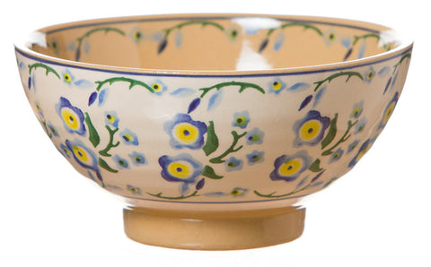 Vegetable Bowl Forget Me Not spongeware pottery by Nicholas Mosse Pottery - Ireland - Handmade Irish Craft.